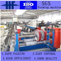 PLC Control Cable Tray Roll Forming Machine with Chain Driving