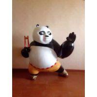 现代工艺品玻璃钢树脂卡通工艺品动漫影视仿真动物摆件功夫熊猫