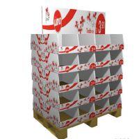 超市卖场纸堆头玩具服饰碗具陈列瓦楞纸货架
