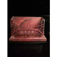 办公桌用品 酸枝高级名片盒红木摆件