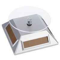 太阳能旋转展示台 光能转盘 饰品展示架