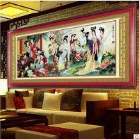 【淘宝货】十字绣批发 高清精准印花布新款客厅 红楼十二金钗