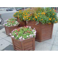 防腐木花槽 碳化木花坛花盆花箱 园林鲜花树木种植花池 厂家直辖特供