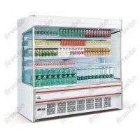 供应沃尔玛鲜奶展示柜/开放式饮料保鲜柜/一体风幕柜/2.5米水果柜