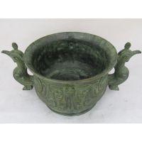 凤纹簋盆 商周礼器仿古青铜器工艺品 装饰品