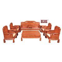 供应宁波帝豪红木家具店 文化知识 缅甸花梨木价格 客厅古典 国色天香沙发
