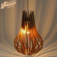 供应新中式现代木艺灯 卧室餐厅书房原木创意吊灯 个性主题灯