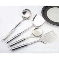 不锈钢厨具四件套 锅铲炊具勺铲套装厨房高档做饭烹饪工具