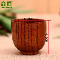 供应木质餐具 实木木杯子 大叶樟直杯 创意杯子 实木礼品餐具批发