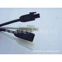 供应AMP插拔式照明连接器 高压公母2PIN插头线 公母端子线