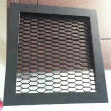 供应娄底椭圆形孔拉网板吊顶鱼鳞型孔铝网格板天花隔断幕墙装饰金属网板
