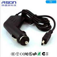 路盛源-专业生产行车记录仪车充 5V1.5A车载充电器Mini USB 枪型车载电源厂家直销
