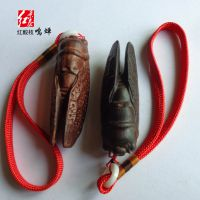 景泰红 木质艺品红酸枝工艺品 长型7厘米鸣蝉挂件 知了 一鸣惊人