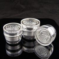 厂家直销  玫瑰花系列瓶子  透明亚克力材质
