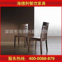 厂家供应 简易木质餐厅椅 全实木水曲柳餐椅 美式饭店实木餐椅