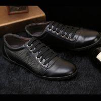 夏季新款男士休闲皮鞋真皮正品男式透气韩版英伦风潮鞋子2015系带