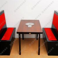 质量保证 户外山庄餐厅实木火锅桌 度假村休闲实木餐桌 方形餐台