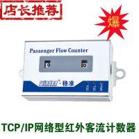 厂家直销 TCP网络型红外客流量计数器双向客流统计系统