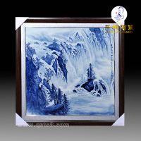 手绘瓷板画价格_青花山水瓷板画价格