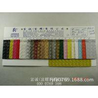 各种经典磅布底大编织纹PVC革 加厚压花压纹格子纹皮革箱包革图