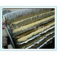 异型毛刷条 可弯曲 塑胶剑麻砂布条 砂光机毛刷木板底漆打磨