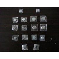 上海PVC磁铁扣 正方形透明压膜铁壳磁铁 D12*2 D14*2 D15*2 D18*2 D20*2