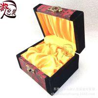 高档绒缎锦盒 木质把玩盒 挂件摆件文玩盒 水晶玉石雕件盒子批发