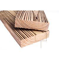 南方松碳化木地板 户外庭院地板 防腐实木板材 刻纹火烧板炭烧木