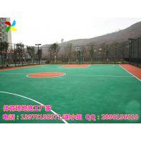 益阳中小学校操场运动场地建设|安化小区篮球场厂家施工画线