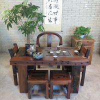 北京茶桌批发 火烧石茶桌茶台 泡茶功夫茶几价格 新中式橡木客厅大茶桌 厂家直销