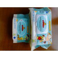 30片卫生护理湿巾生产厂家 珍珠纹婴儿80片全棉湿巾带盖代工