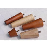 实木沙发脚 橡胶木锥形木脚上透明清漆沙发脚 圆木脚 沙发脚 实木家具配件 可订做