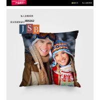 照片定制抱枕 画面逼真 色牢度高 品质高档 免费打样