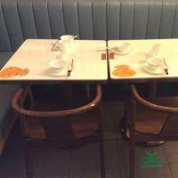 运达来直销 餐桌 大理石餐桌 大理石桌 西餐厅家具 田园餐厅饭店桌椅组合