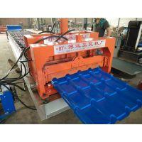 800琉璃瓦机仿古建筑专用琉璃瓦机博远压瓦机厂设备发往甘肃了