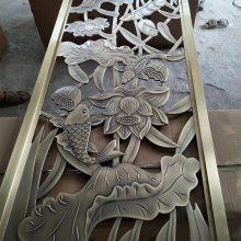 湖南浮雕屏风高端大气上档次铝板雕刻屏风