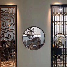 假日酒店大堂装饰铝板雕刻镂空隔断 溢升来图生产雕花屏风