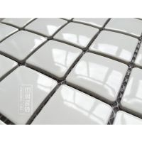 卫生间陶瓷马赛克 阳台浴室瓷砖 宜家北欧小白砖 厨房白色墙砖