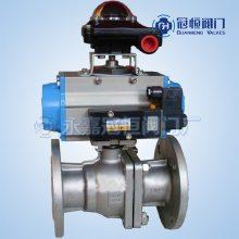 气动球阀Q641F-25C DN40 产品说明 产品性能参数 产品零部件材料 产品外形及结构尺寸