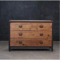 美式法式乡村复古做旧LOFT铁艺储物柜收纳柜创意拼色抽屉柜子斗柜
