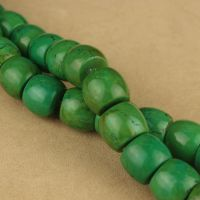 绿松石散珠天然绿松石桶珠隔珠鼓珠 藏式DIY配件材料批发