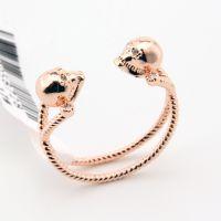 YE056 速卖通热销 精致时尚 骷髅麻花玫瑰金戒指 可调节指环