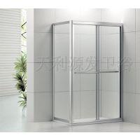 铝合金双趟方形加梗淋浴隔断 玻璃隔断移门