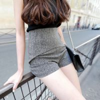 【openlady】定制 设计感 麻灰色显瘦西装高腰短裤
