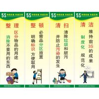 企业工厂车间标语5S标语 生产管理挂图/工厂车间安全品质海报B002