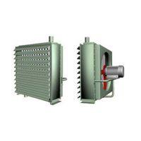 供应鑫鼎防爆型蒸汽热水暖风机 蒸汽热风机 钢管铝片散热器