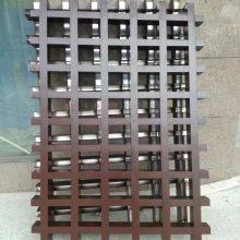 沈阳生产铝格栅规格餐厅铝合金吊顶木纹格栅三角形格子天花装饰组合式格栅