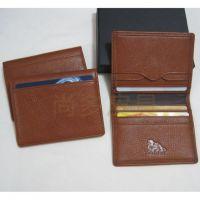 尚多 皮具PIXIU 正品 定制大容量多卡位深啡色牛皮敞口名片包 名片夹 卡包