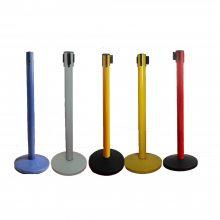 思镒金属制品厂供应立柱可做成红色黄色来隔离区域的彩色栏杆座