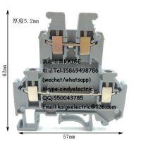 UKK3导轨式双层接线端子2.5mm平方组合式双层接线阻燃铜件端子排